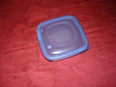 Kunststoffbehälter, ohne Marke, quadratisch, mit Deckel, blau/klar, gebraucht, 1