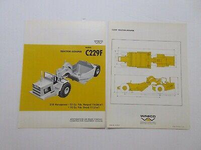Rare Wabco C229f Tractor-scraper Sales Brochure 1967