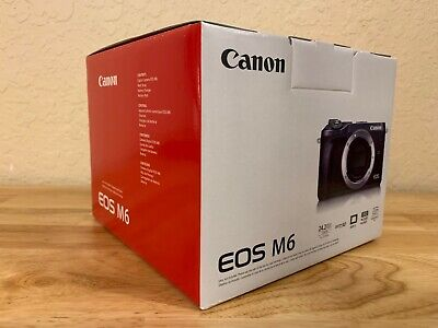 Canon EOS M6 Mirrorless Camera Body Only (Black), NEW