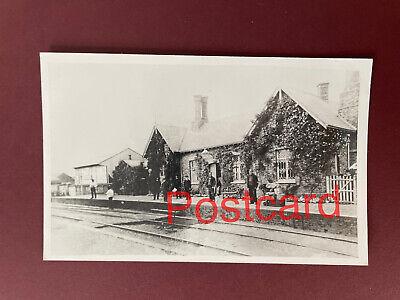 Postcard size photo  Unknown  railway station