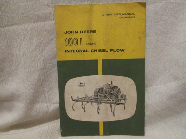 Vintage John Deere Operator's Manual 100 I Se