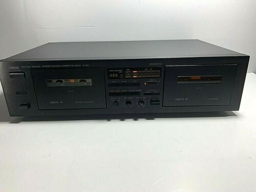 Yamaha K-60 Natural Sound Stereo Vintage Double Cassette Deck / Tested, Works A+