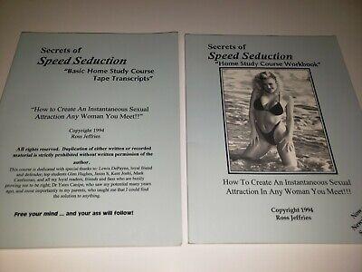 Ross Jeffries Secrets of Speed Seduction Home Course Workbook & Tape Transcripts