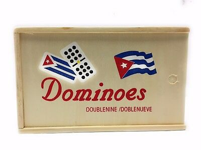 Double Nine Doble Nueve Cuban Flag Dominoes Traditional Board Game