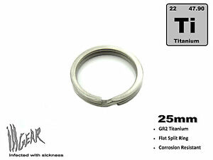 Titanium-Ti-Key-Chain-Split-Ring-25mm-OSD-for-EDC-Flashlights-Lanyards-ill-Gear