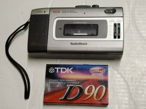 NICE RADIO SHACK CTR-118 VOX PORTABLE CASSETTE RECORDER VARIABLE  SPEECH C4.13