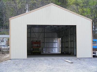 38 x 60 INSULATED Steel GARAGE Shop BUILDING Metal KIT