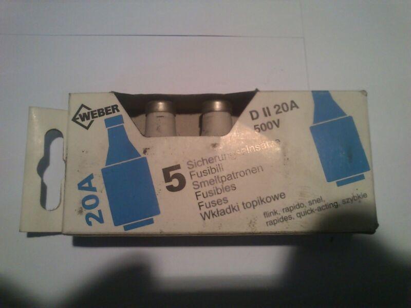 5 Pieces Diazed Fuse 20A