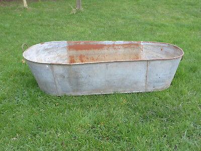 Large Vintage Tin Bath. Ideal Garden Planter.