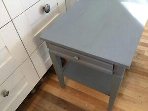 2 blue jean side tables with a drawer- 1 available