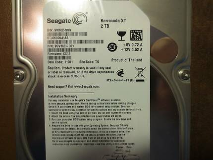 Seagate Barracuda XT 2TB ST32000641AS 9GV168-301 3.5 SATA Hard Dr