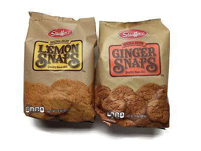 Stauffer's 2-pack Snaps Cookies Variety: Ginger Snaps & Lemo