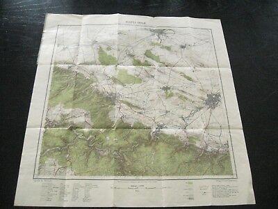 alte Landkarte Karte Blatt 3. THALE von 1922 Quedlinburg Blankenburg Halberstadt
