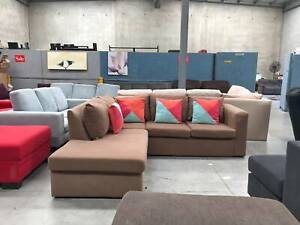 DELIVERY TODAY BROWN COMFORTABLE L shape corner sofa lounge