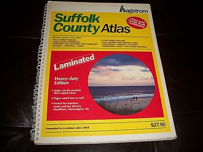 Used, HAGSTROM SUFFOLK COUNTY ATLAS 1990 LAMINATED (STREET GUIDE/PARKS/AIRPORTS ETC) for sale  Plainview