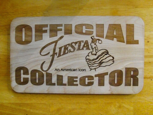 Official Fiesta Collector Fan Club Art Wood Sign -  Rare retired