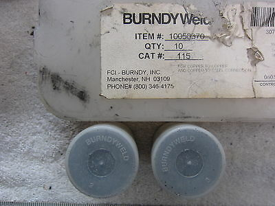 Burndyweld 115 Erico Cadwell Style Welding Material Lot Of 2 Nos