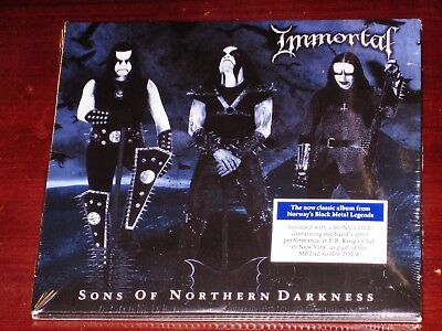 Immortal: Sons Of Northern Darkness CD + Live DVD Set 2018 Nuclear Blast USA NEW