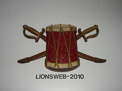 Altes Metall Trommel Emblem Sexton USA - Trommler Emblem