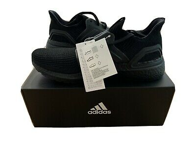 Adidas UltraBoost 19 UK10 New Genuine Triple Black Running Trainers
