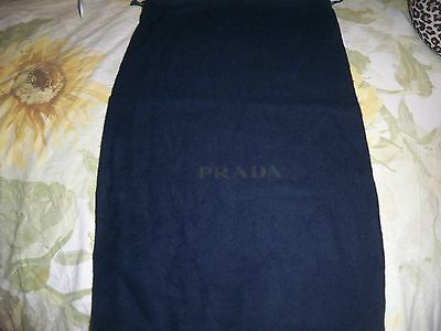 Designer Sleeper/ Dust Bag Prada Navy Cotton with Navy Logo