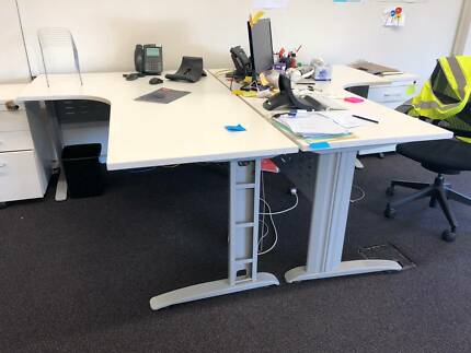Two Office Desks With Side Returns