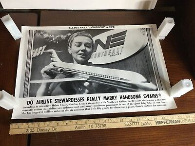 Illustrated Current News Photo - Airline Stewardesses Marry Passenger Northeast