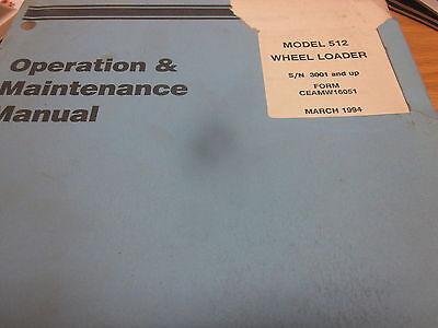 Dresser 512 Wheel Loader Operation Maintenance Manual