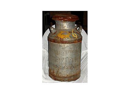 RARE Antique Bordens Queensboro Farm Prod L I City NY Milk Can with Lid