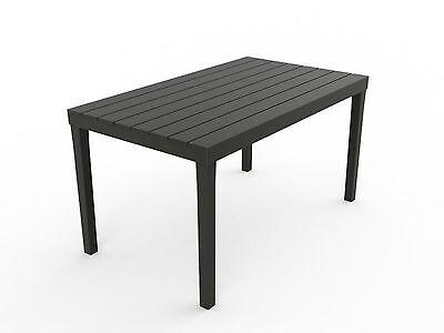 Gartentisch Sumatra grau wetterfest Tisch 140 x 80 cm Balkontisch Holz Optik