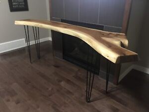 Live Edge Cherry Sofa Table