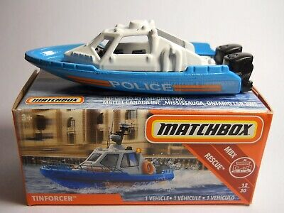 MATCHBOX POWER GRABS #65 Tinforcer Police Boat 2018 issue (NEW in BOX)
