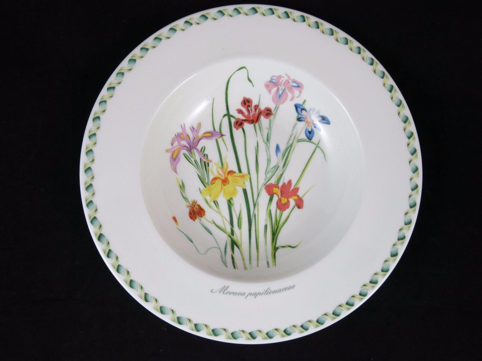 Portmeirion Ladies Flower Garden Large Rim Soup Bowl Moraea Papilionaceae