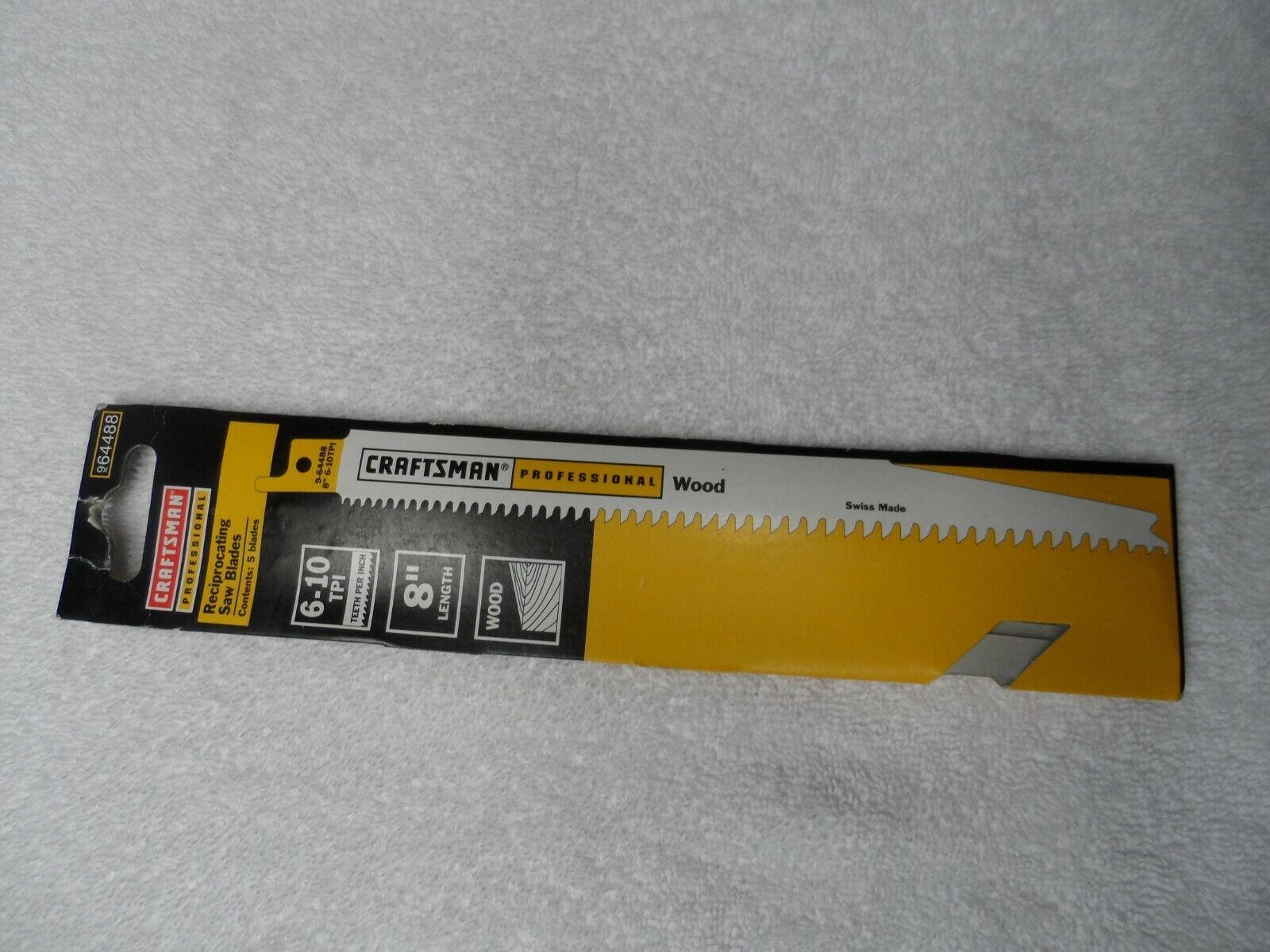 "Craftsman 64488 6-10 TPI 8"" Reciprocating Saw Wood/Nails 2 B"