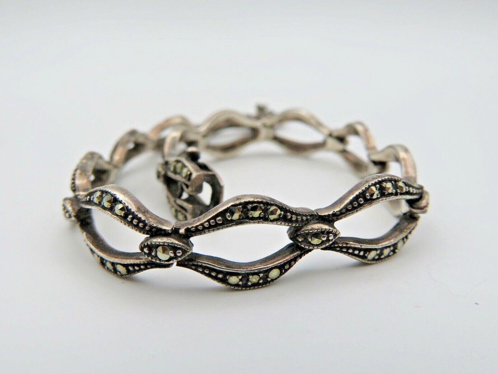 Art Deco Armband 925 Silber mit Markasite