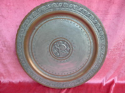 Beautiful, Old Metallteller __ Tray __Orient__Handmade__ 38, 5cm__Copper__