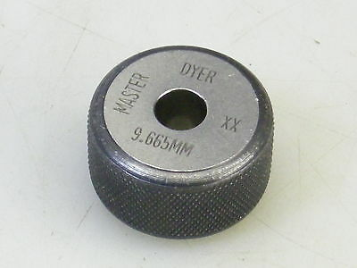 Dyer Master 9.665mm Xx Bore Gage Gauge Bore Gage Setting Ring
