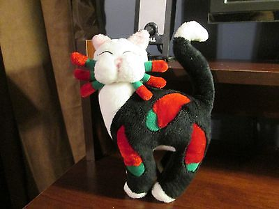 "Whimsiclay plush 8"" chili pepper cat"