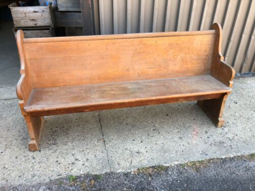 "circa 1890 church pew bench Quartersawn oak 68"" x 36"" x 19"" - 64"" wide on seat"