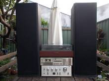 Retro Stereo System equipment with record player and speakers Marrickville Marrickville Area Preview