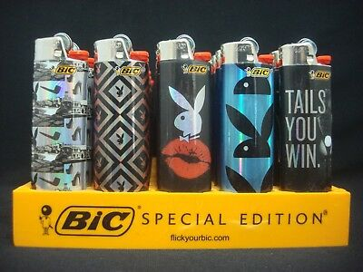 8 Bic Playboy Bunny Design Lighters Regular Disposable (1 Lighter Per Design) (Playboy Bunny Designs)