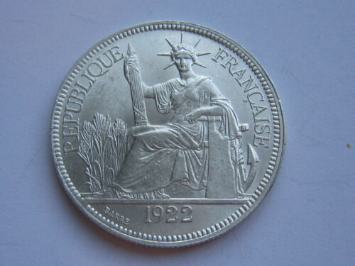 1922-H FRENCH INDOCHINA Silver Coin