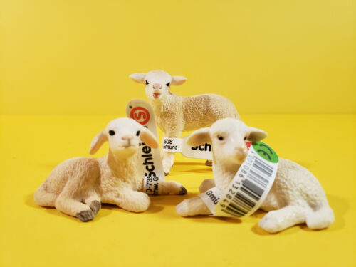SCHLEICH LOT 3 LAMBS LAYING STANDING LAMB 13284 13744 13745 ANIMAL Figures