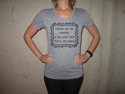 womens pumpkin like friends t shirt funny halloween costume graphic witch tee