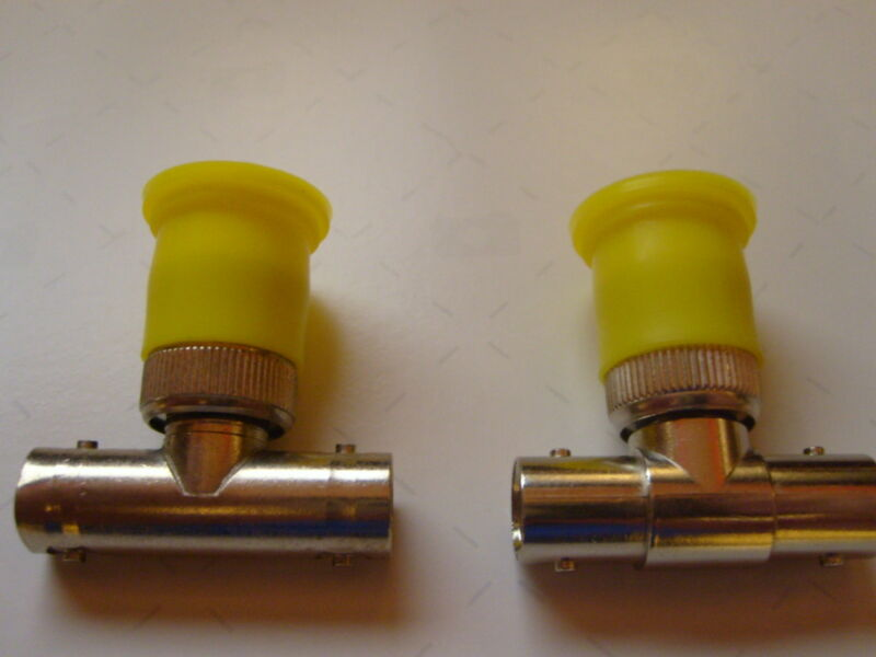 Lot 50 BNC Male Type N Male Protective Cover Cap Plug PL-259 Yellow Dust Cover