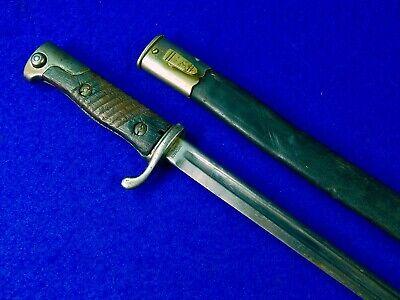 Antique German Germany Model 1898 Quillback Bayonet Sword Knife w/ Scabbard