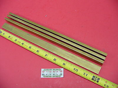 4 Pieces 14 X 34 C360 Brass Flat Bar 12 Long Solid .25x .75 Mill Stock H02
