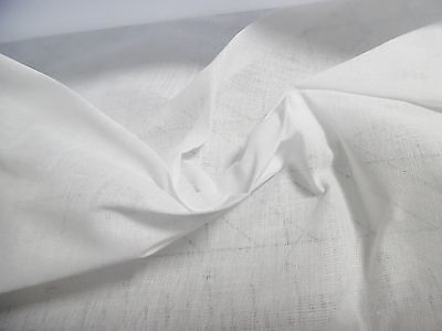 NEW SIZE~100% COTTON ORGANDY FABRIC~WHITE~18