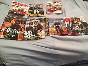 Guitar and car magazines