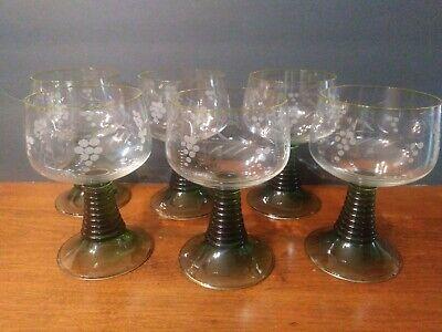 Bee Hive German Wine Glasses 1/4 L